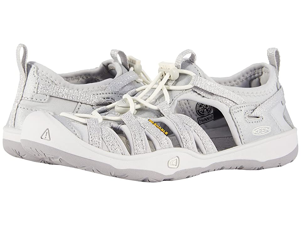 Keen Kids Moxie Sandal (Little Kid/Big Kid) (Silver) Girl