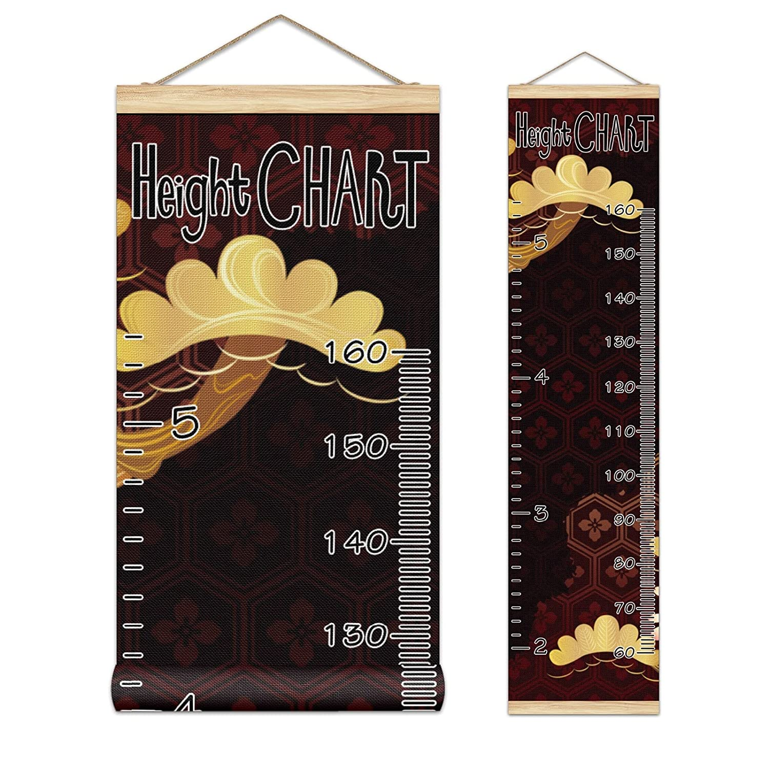 Kids Popular products Growth Chart Ruler for High quality Wall Measure Frame Wood Height