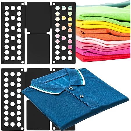MovilCom® Doblador de Ropa, doblador de Camisas, Tabla para Doblar Camisas, Laundry Folder Negro