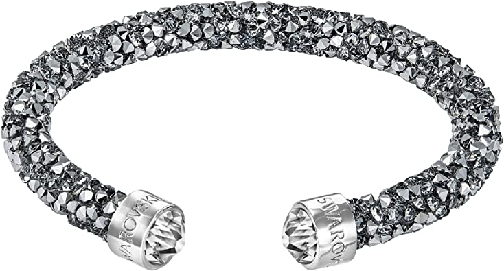 Swarovski Manchette Crystaldust, gris: Amazon.fr: Bijoux