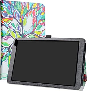 Barnes & Noble Nook 10 (BNTV650) Tablet Case,LiuShan PU Leather Slim Folding Stand Cover for 10.1
