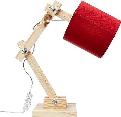Luminária Articulada Vermelha Carambola Luminárias Vermelho/bege