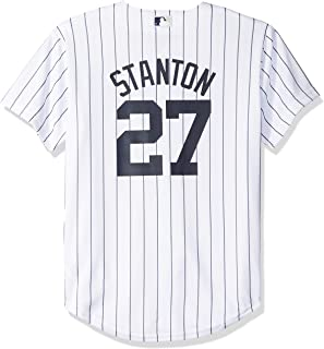 aa2d95e86 Majestic Giancarlo Stanton New York Yankees MLB Youth White Home Cool Base  Replica Jersey