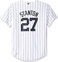 Majestic Giancarlo Stanton New York Yankees MLB Youth White Home Cool Base Replica Jersey (Youth Large 14-16)