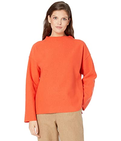 Eileen Fisher Funnel Neck Box Top (Marmalade) Women