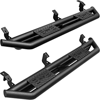 """oEdRo 6"""" Side Step Compatible with 2005-2021 Toyota Tacoma Double Cab, Upgraded Running Boards Textured Black Heavy Duty T..."""
