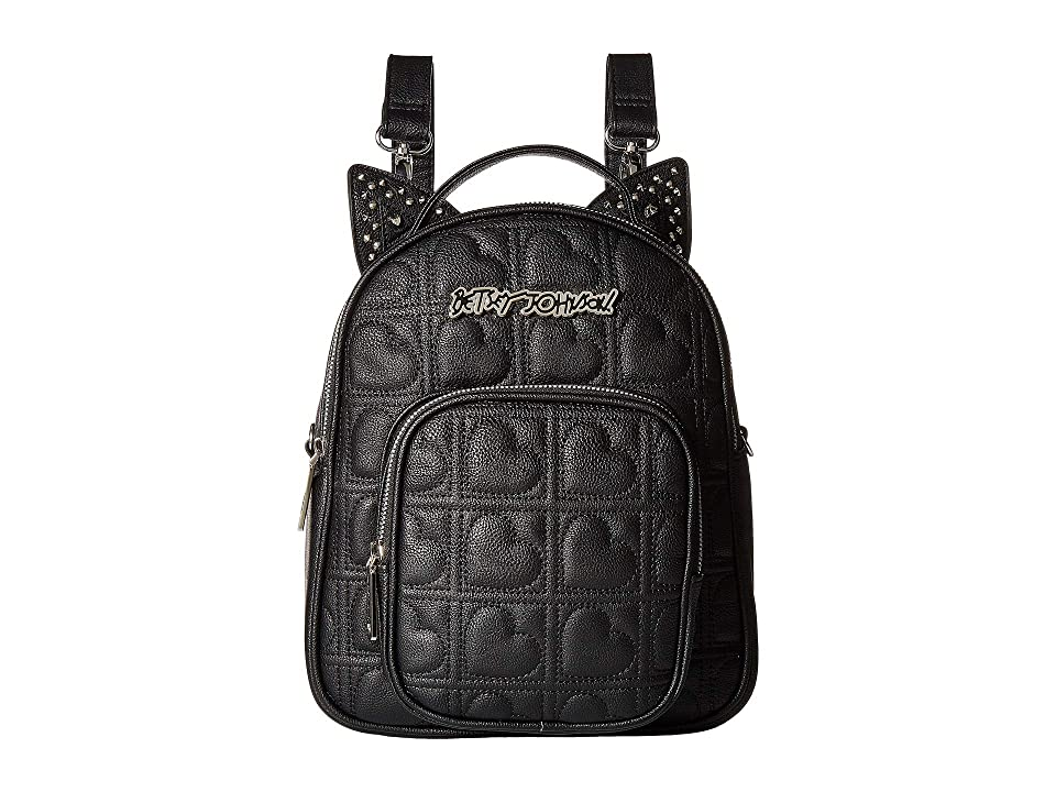 Betsey Johnson Convertible Backpack (Black) Backpack Bags