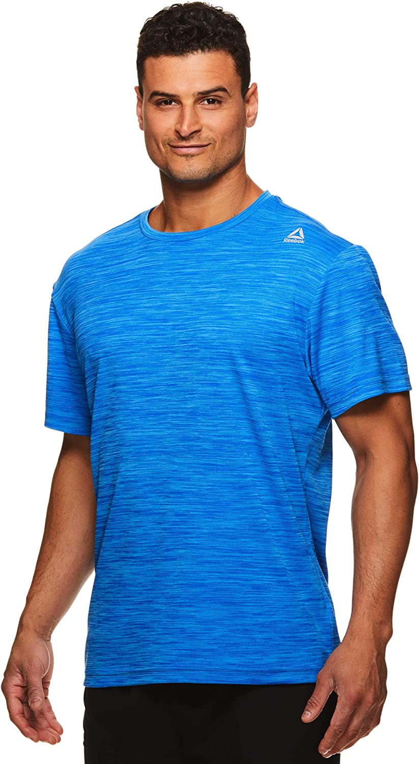 Reebok Men's Supersonic Crewneck Workout TShirt Designed with Performance Material