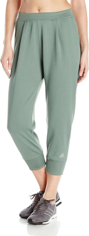 Adidas Women's Performer Training Pants, Trace Green Black, XSmall