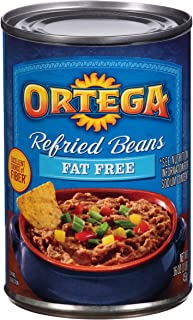 Ortega Refried Beans, Fat Free, 16 Ounce (Pack of 12)