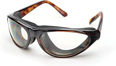 """RSVP International Tortoise Shell Onion Goggles, 6""""   Safely Prepare Foods Without Tears   Remove Smoke, Steam Vegetable Irritations   Fog-Free Lenses for Cooking, Skiing, Biking, Dry Eye, One Size"""