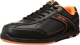 KR Strikeforce Bowling Shoes Mens Flyer Bowling Shoes- M US, Black/Orange, 12
