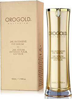 OROGOLD 24K Intensive Eye Serum for Wrinkles, Puffiness - Anti Aging Serum For Youthful Looking Skin - Under Eye Skin Soft...