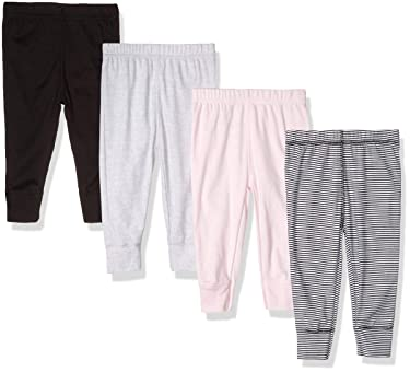 Gerber - pantalones de bebé para niña, juego de 4 unidades