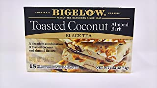 Bigelow Toasted Coconut Almond Bark 36 Tea Bags (2 boxes of 18)