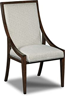 Hooker Furniture Upholstered Dining Side Chair in Dark Wood