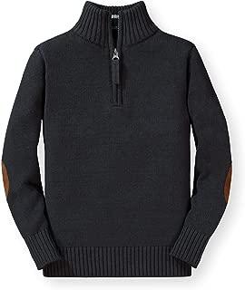 Hope & Henry Boys Mock Neck Sweater Zipper Made Organic Cotton