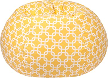 Gold Medal Bean Bags Bean Bag, XX-Large, Natural Yellow