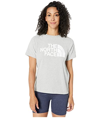 The North Face Short Sleeve Half Dome T-Shirt (TNF Light Grey Heather/TNF White) Women