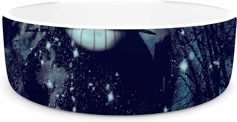 KESS InHouse Frederic LevyHadida The Big Friend  Fantasy bluee Pet Bowl, 7