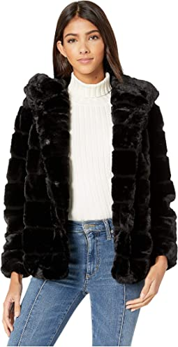 Goldie 3 Hooded Faux Fur Coat