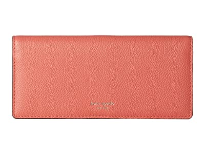 Kate Spade New York Margaux Bifold Continental Wallet (Peachy) Checkbook Wallet