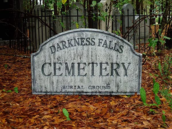 Evil Soul Studios Darkness Falls Cemetery 2 Sided Entrance Sign Halloween Prop