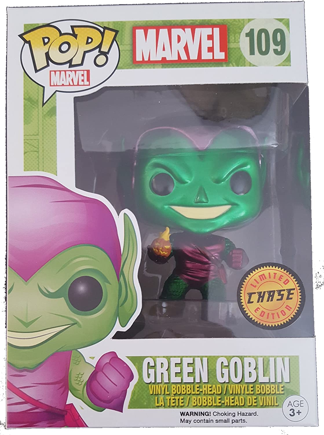 Funko Pop Marvel  Green Goblin Metallic Chase Vinyl Figure