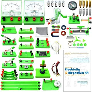 EUDAX School Physics Labs Basic Eectricity Discovery Circuit and Magnetism Experiment Kits for Kids Junior Senior High School Students Electromagnetism Elementary Electronics