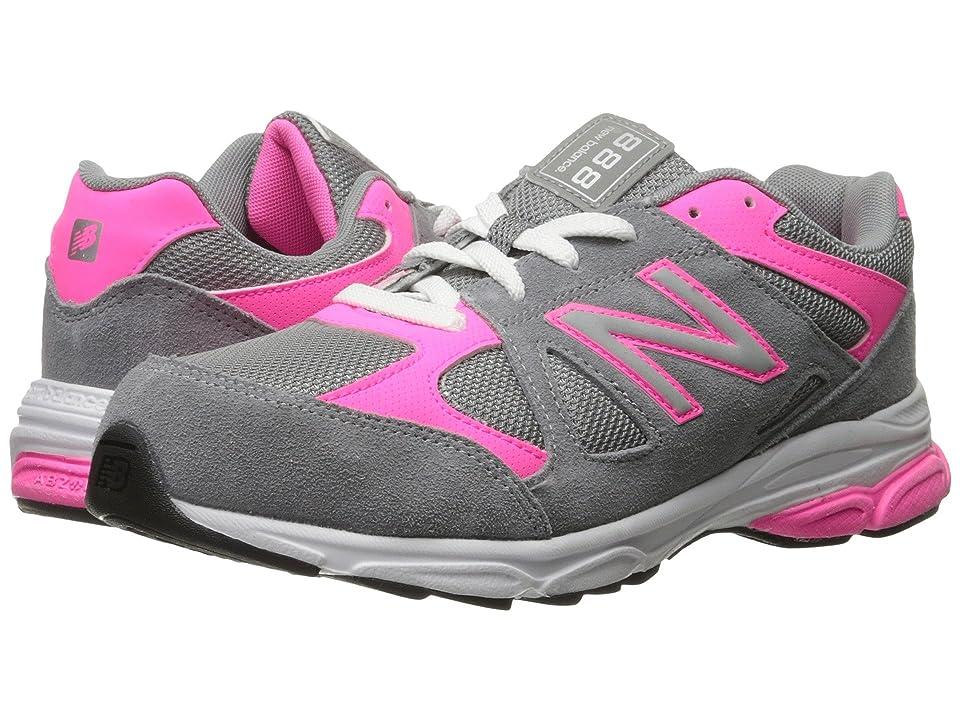New Balance Kids 888 (Big Kid) (Grey/Pink) Girls Shoes