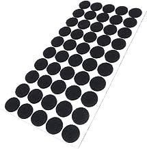 Adsamm FP-35-SA-BL-22-50-1 FP-35-SA-BL-22-50 50 x viltglijders, zwart, Ø 22 mm