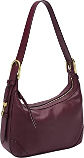 Fossil Hannah Leather 33.655 cms Purple Gym Shoulder Bag (ZB7888503)