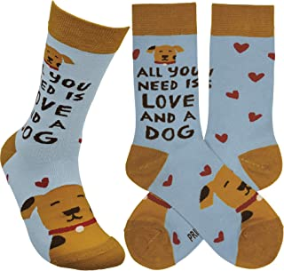 Primitives by Kathy Socks - Socks - All You Need Is Love And A Dog
