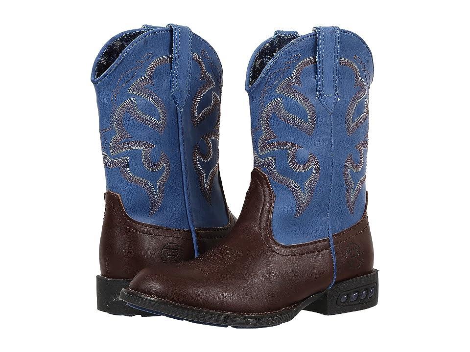 Roper Kids Lightning (Toddler/Little Kid) (Brown/Blue) Cowboy Boots