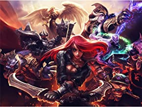 League of Legends 3D Poster Wall Art Decor Print   11.8 x 15.7   Lenticular Posters & Pictures   Memorabilia Gifts for Guys & Girls Bedroom   LOL Fan Art   Katrina, Teemo, Kayle, Warwick & Ashe Photo