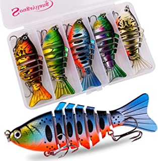 Sougayilang Fishing Lure Whopper plopper with Floating Rotating Tail Topwater Bait Freshwater Saltwater Lures for Carp Bas...