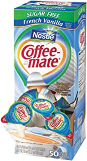 Coffee-mate Coffee Creamer, Sugar Free French Vanilla Liquid Singles, 0.375-Ounce Creamers, 200-Count