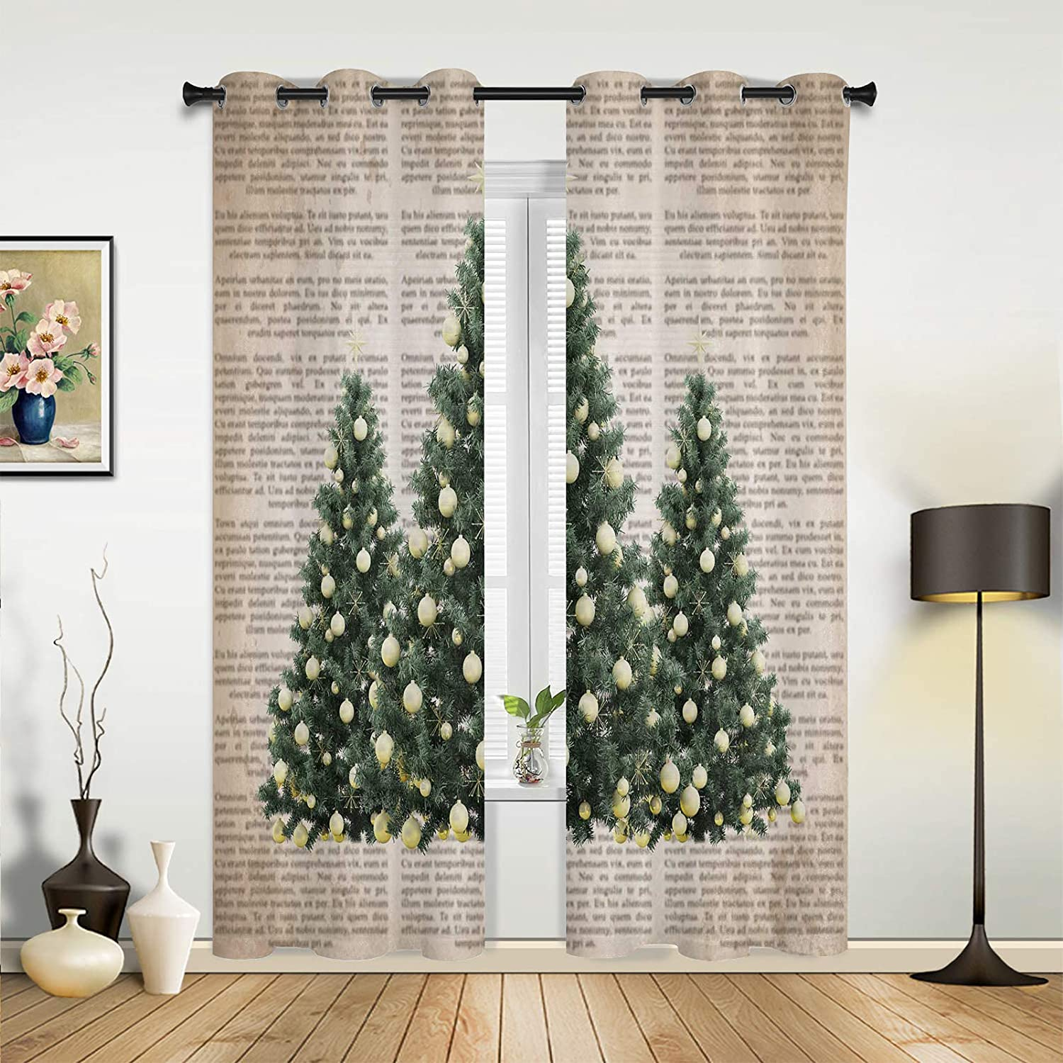 Beauty Decor Genuine Window OFFicial store Sheer Curtains for Bedroom Living Merry Room