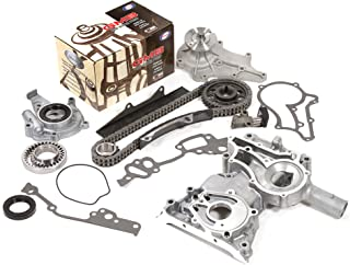 Evergreen TCK2001WOP Fits Toyota 20R Timing Chain Kit Water Pump Oil Pump Timing Chain Cover