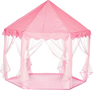 e-joy Kids Indoor/Outdoor Play Fairy Princess Castle Tent, Portable Fun Perfect Hexagon Large Playhouse toys for Girls/Chi...