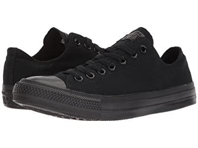 Converse Chuck Taylor(r) All Star(r) Core Ox (Monochrome Black) Classic Shoes
