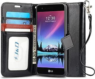 J&D Case Compatible for LG K10 2017 / LG K20 V/LG K20 Plus/LG V5 / LG Grace L59BL Case, [Wallet Stand] [Slim Fit] Heavy Duty Shock Resistant Flip Cover Wallet Case for LG K10 2017 Wallet Case