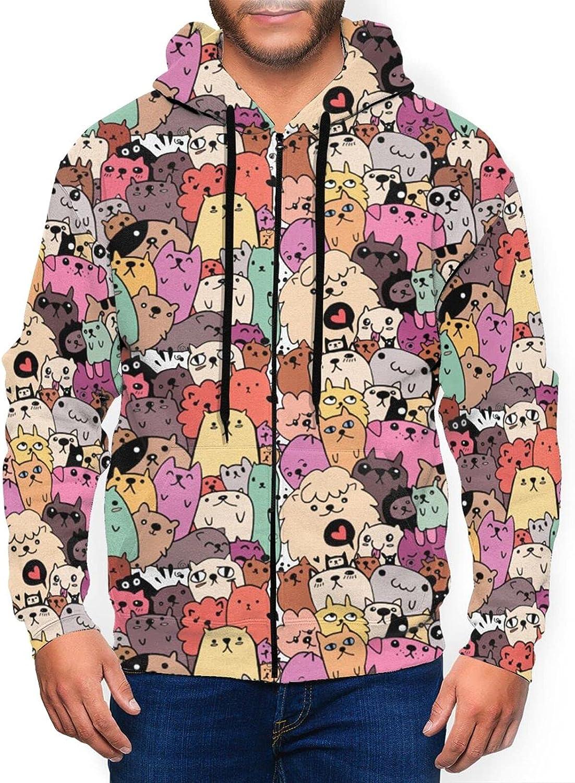 Mens Fashion New Free SALENEW very popular! Shipping Athletic Hoodies Funny Kitty F Rainbow Cats Cartoon