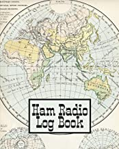 Ham Radio Log Book: Amateur Radio Operator Station Log Book Vintage World Map