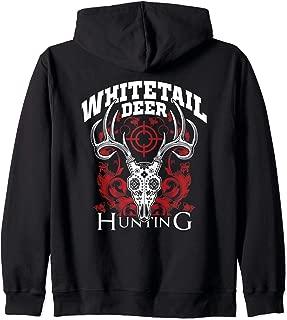 Whitetail Deer Hunting Sugar Skull Buck Hunter Gift Zip Hoodie