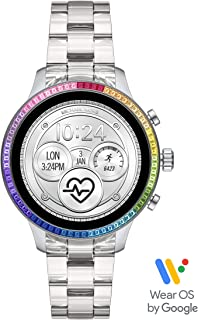 Michael Kors Access Women's Runway Stainless Steel Touch-Screen Smartwatch with Plastic Strap, Clear, 18 (Model: MKT5065)