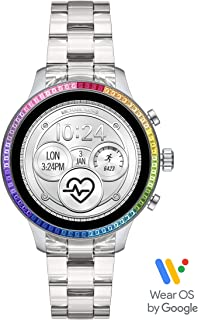 Access Women's Runway Stainless Steel Touch-Screen Smartwatch with Plastic Strap, Clear, 18 (Model: MKT5065)