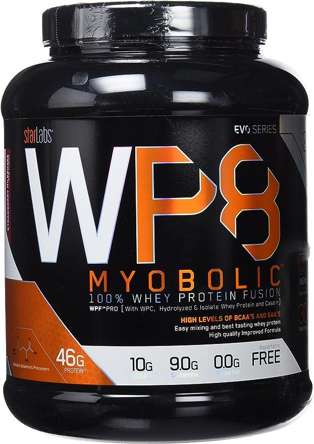 Starlabs Nutrition WP8 Myobolic 2.0 Proteína, Batido de Fresa ...