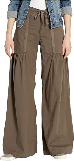 Willow Wide Leg Stretch Poplin Pants