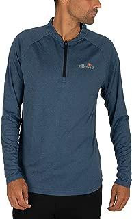 Ellesse Men's Janeti 1/4 Zip Longsleeved T-Shirt, Blue